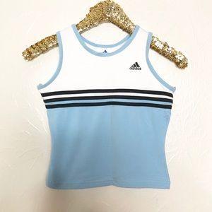 Adidas Striped Crop Tank Top